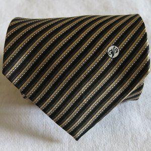 Versace Handmade Classic V2 Stripe Silk Neck Tie